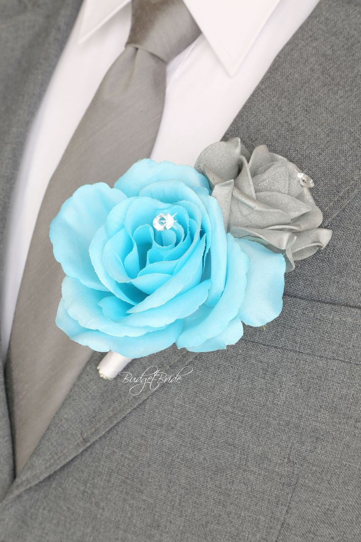 Davids Bridal Pool Blue Bouquet