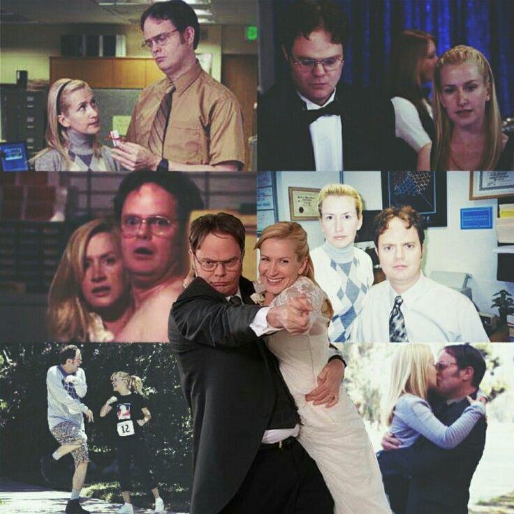 Dwight and Angela The Office Rainn Wilson & Angela Kinsey