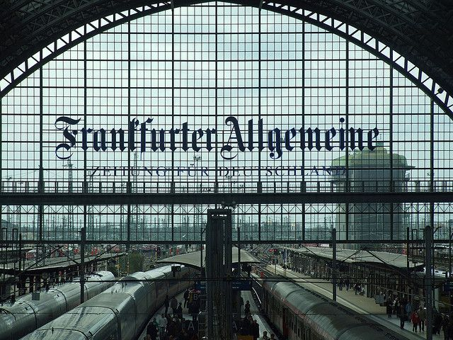 Frankfurter Allgemeine - Main Train Station - Frankfurt, Germany ****Frankfurt Allegemeine is the local newspaper.