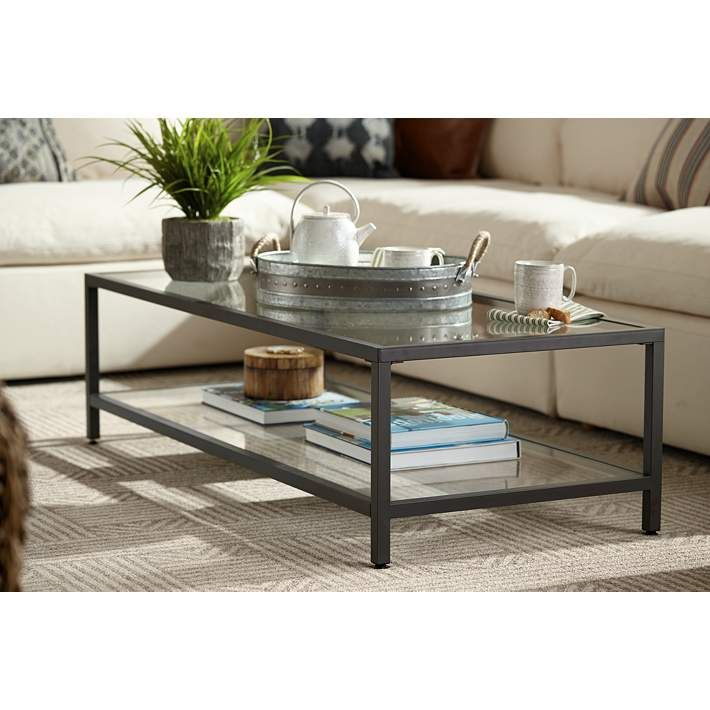 Studio Designs 54 Wide Rectangular Glass Top Coffee Table 9d924 Lamps Plus Glass Coffee Table Decor Glass Coffee Tables Living Room Modern Glass Coffee Table