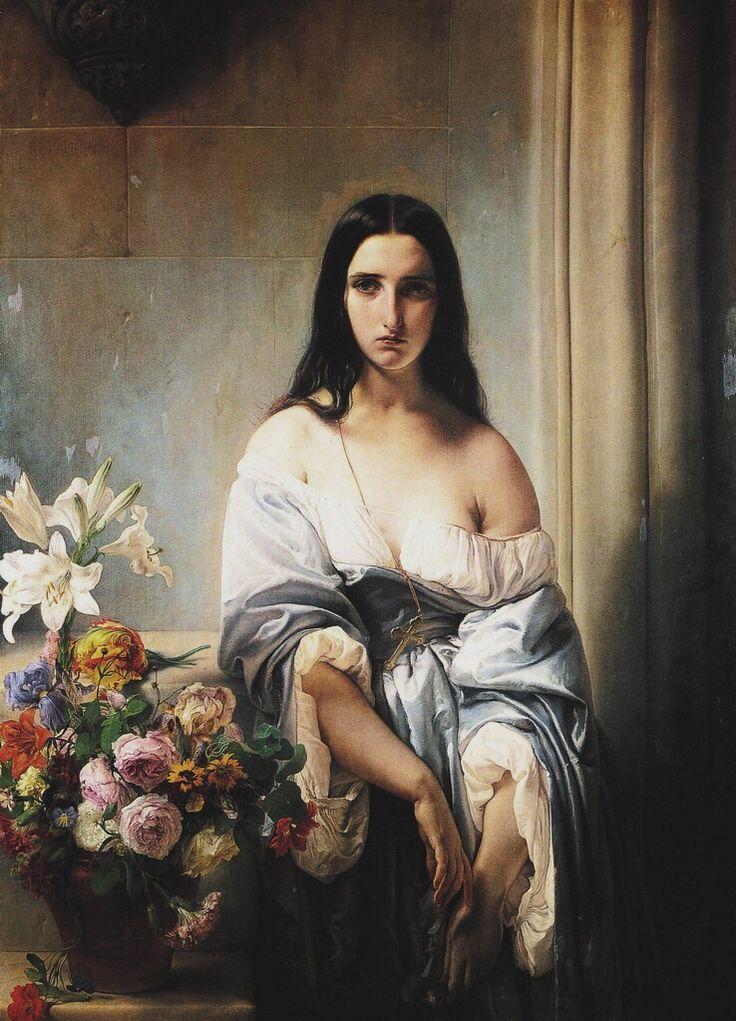 A Melancholy Thought, Francesco Hayez ______________________________ ♥♥♥ deniseweb.free.fr ♥♥♥