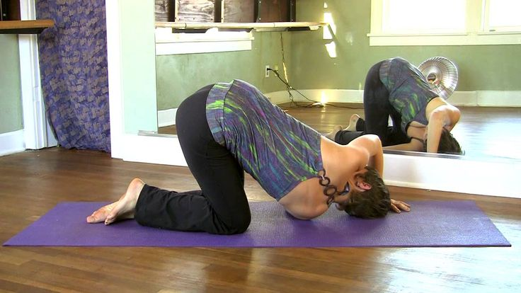 10 Minute Yoga Back Stretches For Pain, How To Routine   Beginners Yoga Jen Hilman, via YouTube.