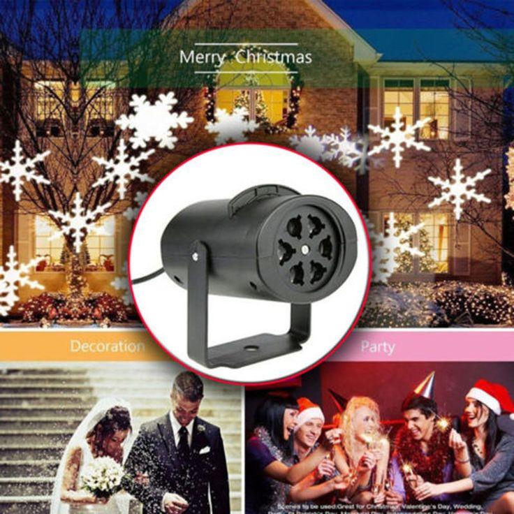 Outdoor Romantic Snowflake Led Laser Light Projector Landscape Xmas Lamp Light