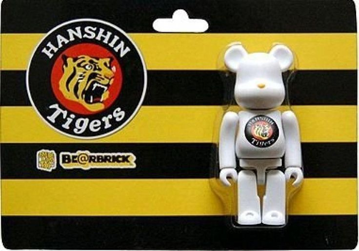 F/S BE@RBRICK BEARBRIC 100% x Hanshin Tigers Japanese baseball team Medicom Toy #MEDICOMTOY