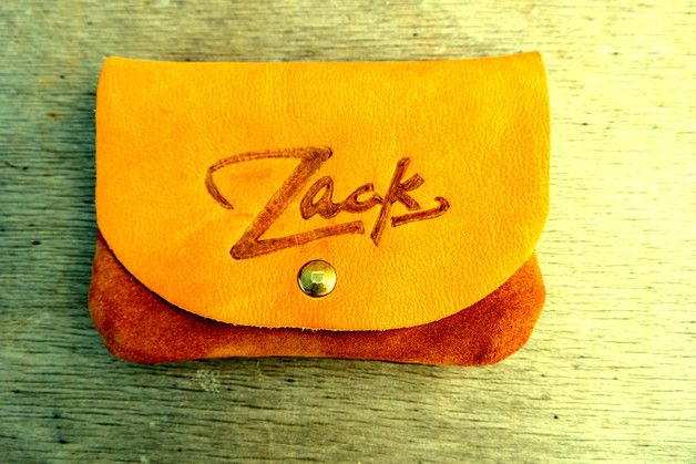 New cosy tobacco bag made from soft leather.With interior seams that are not visible. With exterior pocket for rolling papers. Sewed by hand by waxed thread. Made to order with a pyrography of...