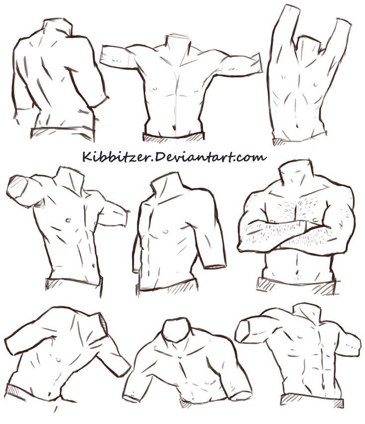 Male Torso Reference Sheet by Kibbitzer on @DeviantArt