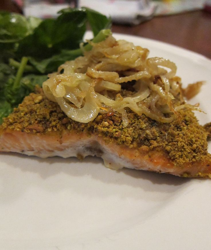 Paleo Day 1: Pistachio Crusted Salmon   Pistachios, Crusted Salmon and ...