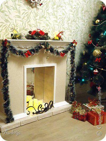 Интерьер Новый год Рождество Моделирование конструирование Камин из картона к новому году или мечты сбываются Бумага гофрированная Картон Картон гофрированный Коробки Металл фото 2