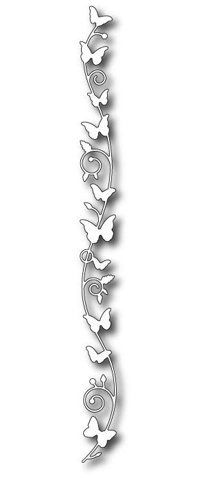 Memory Box Dies - Butterfly Vine Border - 98458