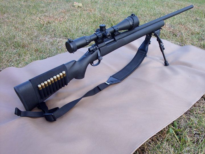 Remington 700 Tactical .308.  I would probably like it in wood better, but that's just me.