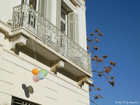 Balloons sky and building photograph fine by DailyArtbyAngelina