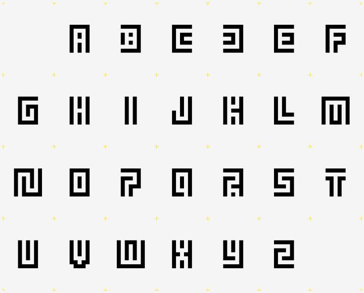 typographie modulaire   Dedale  d'Atlas  .évoque l'antiquité, motifs géométriques, labyrinthes antiques .  .écho aux échos d'histoire d'art et archéologie. .effet : le lecteur voit en 1er lieu des formes géométriques  . les lettres forment un labyrinthe