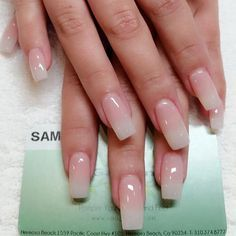 Acrylic Nails, Gel Nails, Fake Nails, Long Nails, Square Nails, Manicure, Simple, Natural Pink, Opaque Tips