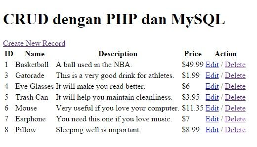 PHP & MySQL : CRUD Part 1