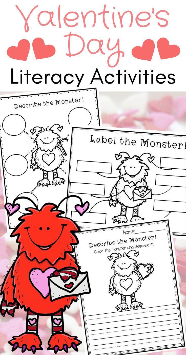 Valentine S Day Worksheets Centers And Activities For Kindergarten Students Work Kindergarten Literacy Worksheets Literacy Activities Kindergarten Activities [ 1400 x 735 Pixel ]