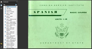 The Foreign Service Institute's language courses that were developed before 1989 are free on the interwebs.