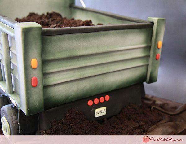 Dump Truck Cake | http://blog.pinkcakebox.com/dump-truck-cake-2011-08-02.htm