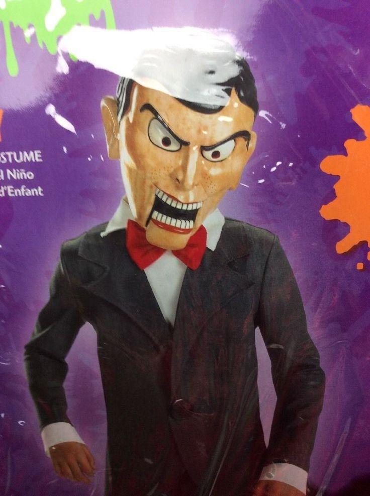 Goosebumps Slappy Dummy Ventriloquist Costume Size 7 8 Deluxe Childs Halloween | eBay