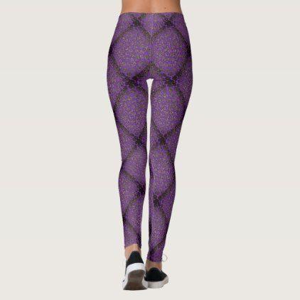 Purple Diamond Modern Mosaic Pattern Leggings - modern gifts cyo gift ideas personalize