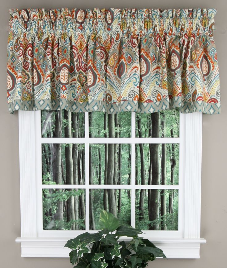 Boho Passage Valance By Waverly Is Fully Lined And
