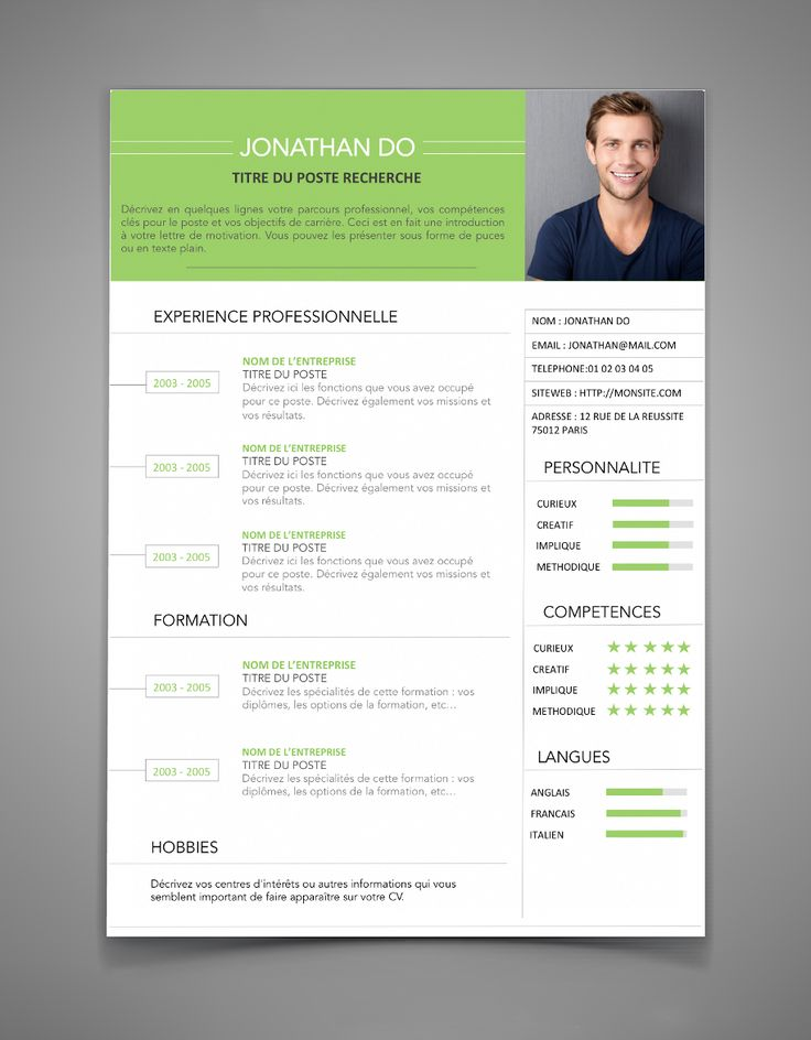 Cv Graphique Ralis Avec Photoshop By Marie Jay  Cv Template
