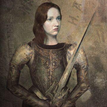 """Joana D´Arc, heroína francesa, lutou na """"guerra dos cem anos"""" (França e Inglaterra)."""