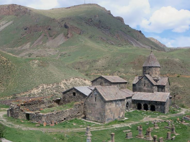 Vorotnavank Monastery, overlooking the Vototan Gorge near Sisian in southern Armenia, dates from the 10th century but has been destroyed and rebuilt several times.