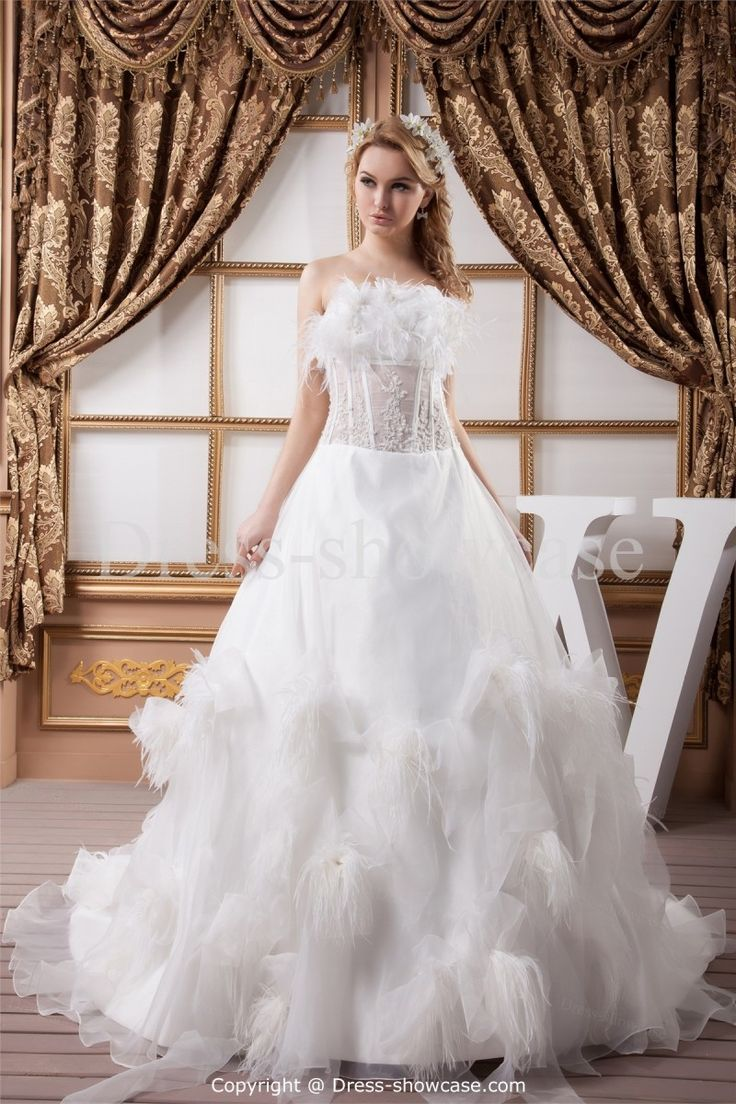 Appliques Sleeveless A Line Wedding Dress