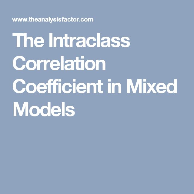 The Intraclass Correlation Coefficient in Mixed Models