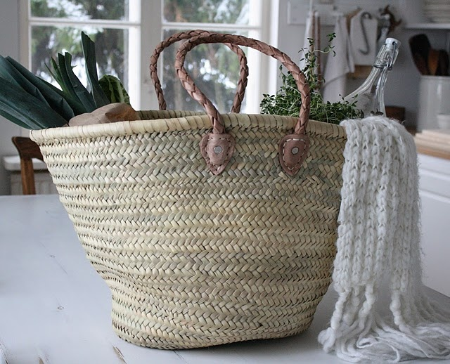 straw bag, from tine k home