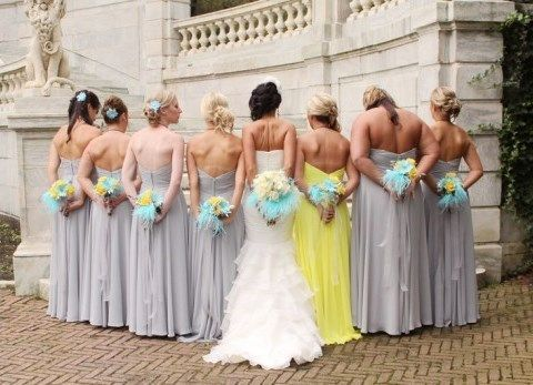 Image result for maid of honor in different color dress