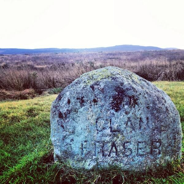 Sam tweeted this. The Fraser Clan Stone on Culloden moor.
