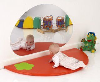 Big Egg Mirror - children's/baby safe mirror for self exploration and play