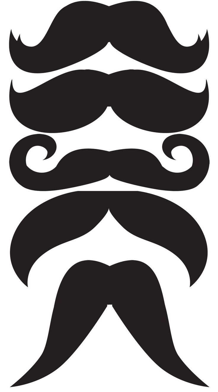 mustache template (I love it that people have been handing out mustaches on sticks at parties lately, so good to do different styles!!)