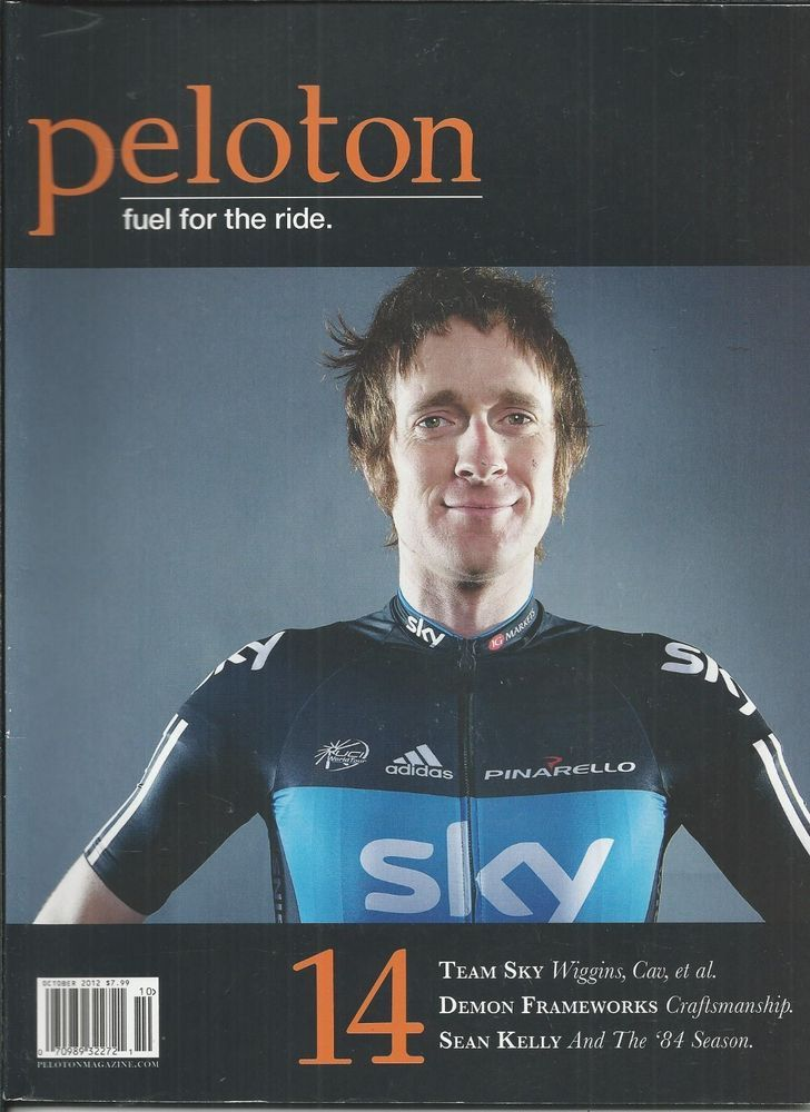 Peloton cycling magazine  The major selling of this cover is Bradley Wiggins - the leading personality in cycling.