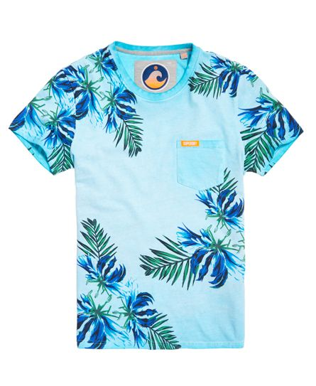 Superdry T-shirt à poche California Turquoise - Spring 2016 - 40 €