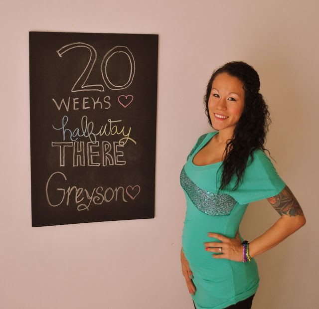 Diary of a Fit Mommy: 20 Weeks Pregnancy Chalkboard Update