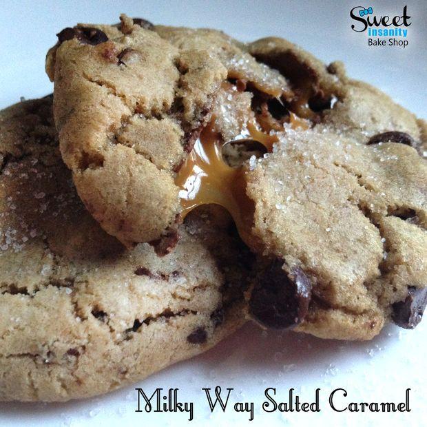 Milky Way Salted Caramel Cookies… SHUT UP!!!!! #recipes #cookies
