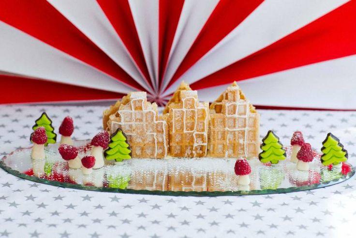 Kijk wat een lekker recept ik heb gevonden op Allerhande! Kerststadje in de sneeuw