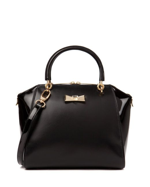 Small crystal bow tote - Black | Bags | Ted Baker