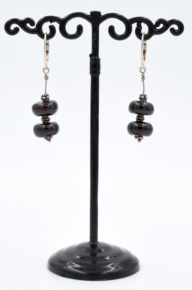 Boucles d'oreilles, argent 925,pierre naturelle grenat, rouge, dormeuse, élégance, cadeau de la boutique SUINDARA sur Etsy