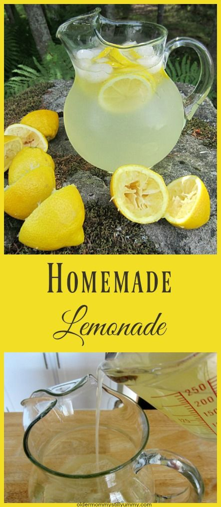 This easy to make Homemade Lemonade is icy cold and refreshing. Such a great thirst quencher!