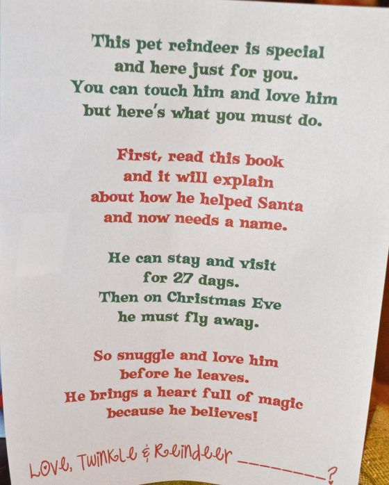 Reindeer Games - Elf on the Shelf Pet letter  Get a stuffed reindeer to help Buddy the elf with watching.  Fun if you have two children!  www.cwazytown.com
