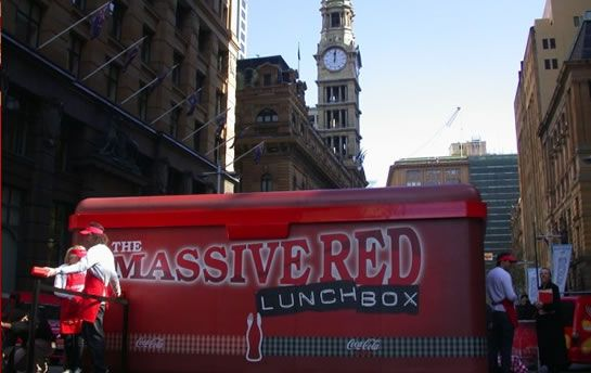 Coke's Massive Red Lunchbox - have a look at all our projects on http://www.bki.com.au/
