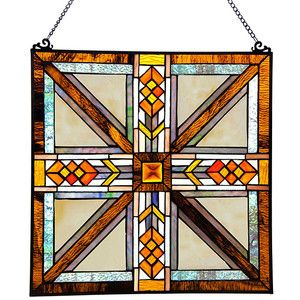 River of Goods Southwestern Mission Stained Glass Window Panel