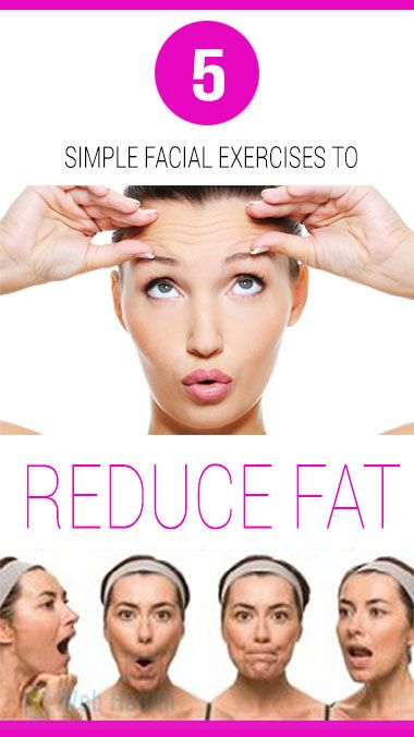 5 simple facial exercises to reduce fat : #skin_care
