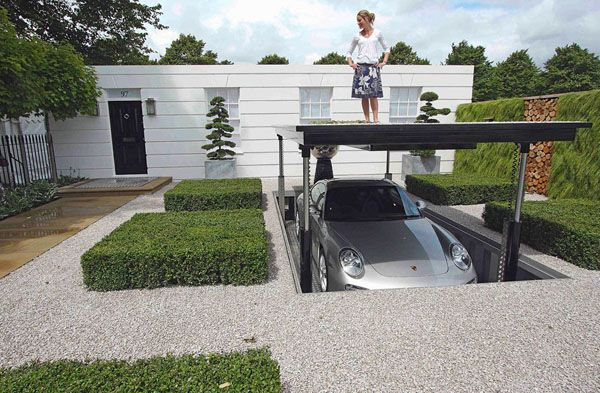 Awesome Garages Garage Design For The Modern House Awesome Hidden Undergro