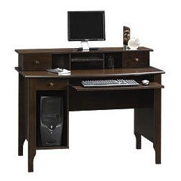 sauder office furniture collections dark alder computer desk by sauder office furniture
