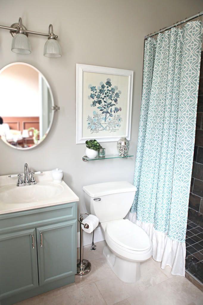 ideas for bathrooms decorating%0A Seafoam bathroom cabinets
