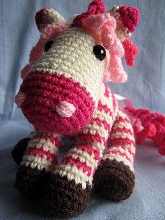 Zebra Horse PDF Crochet Pattern